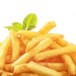 Heap of crisp French fries - detail